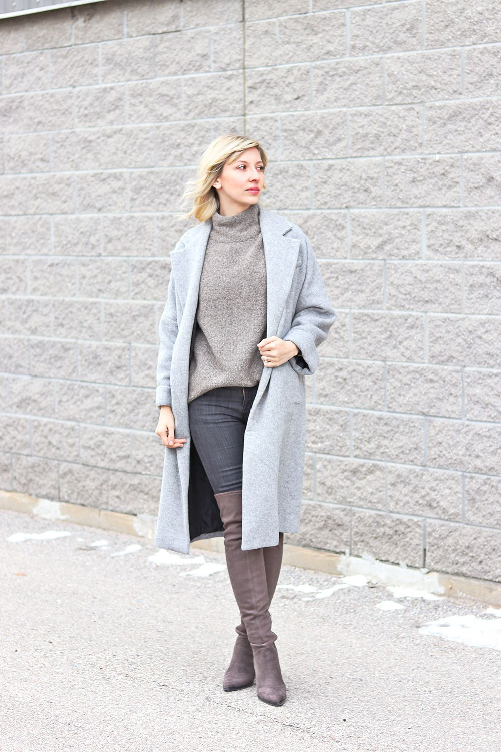 grey style outfit