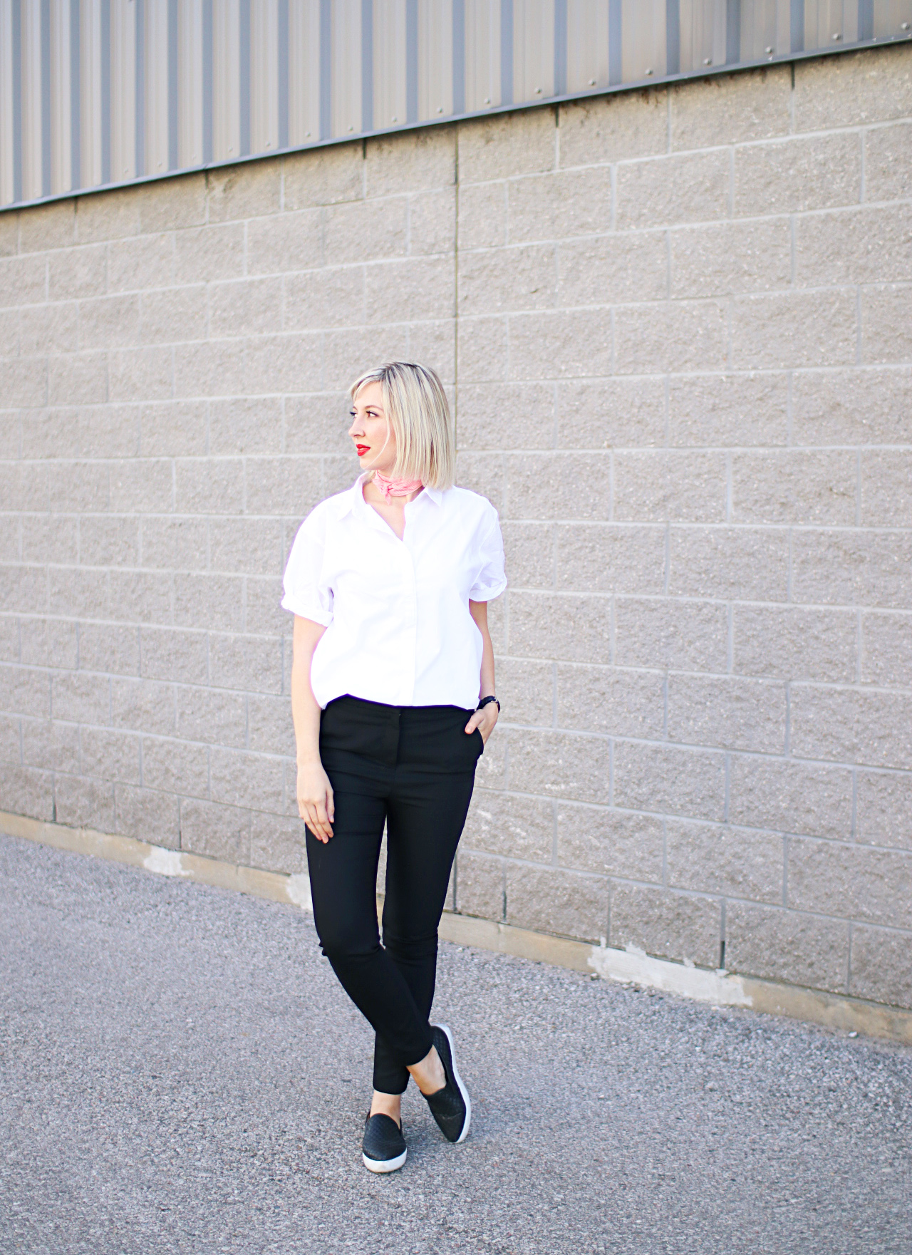 High Waist Trousers 🖤 | Black and White Office Style