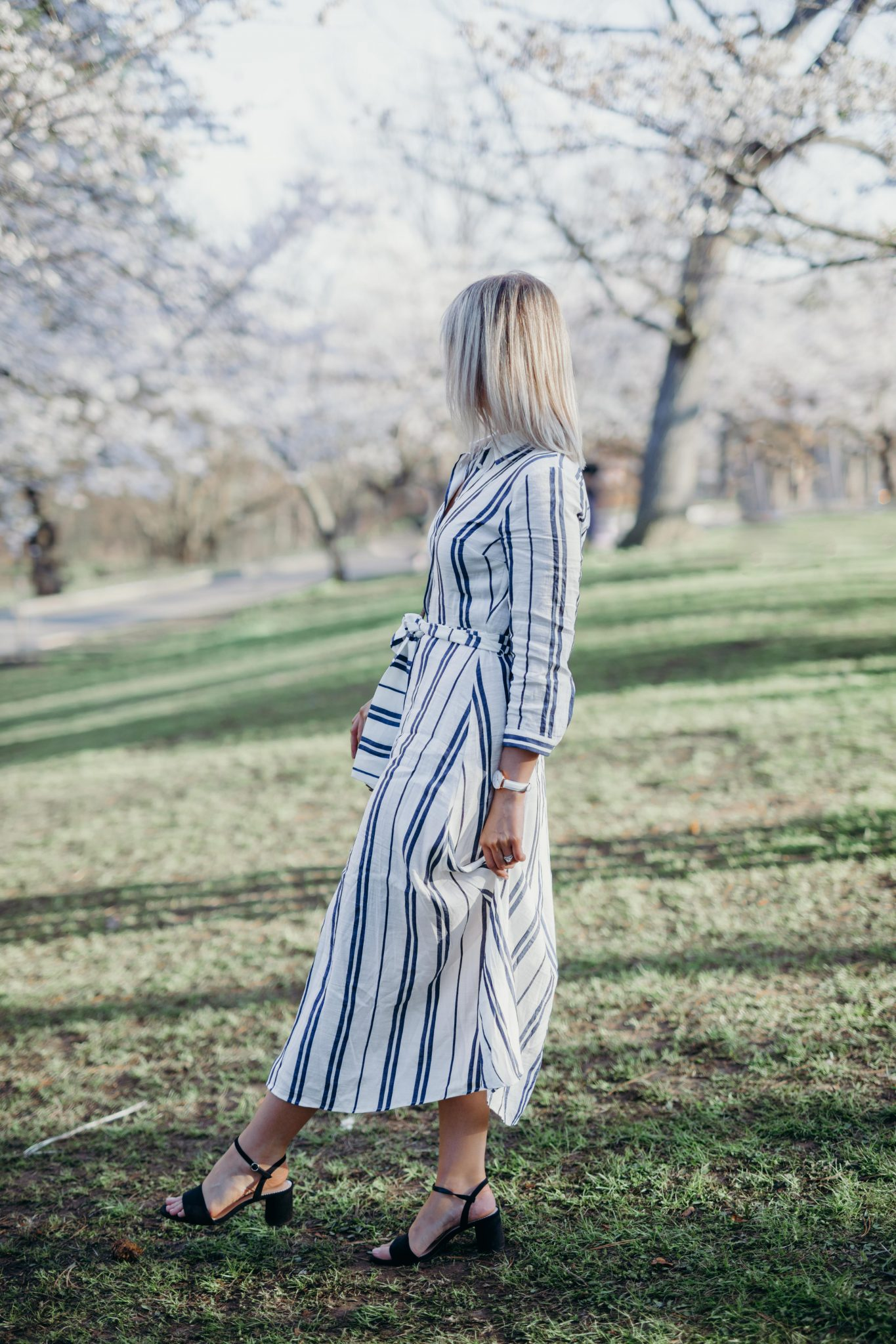 Long Striped Dress Style 3