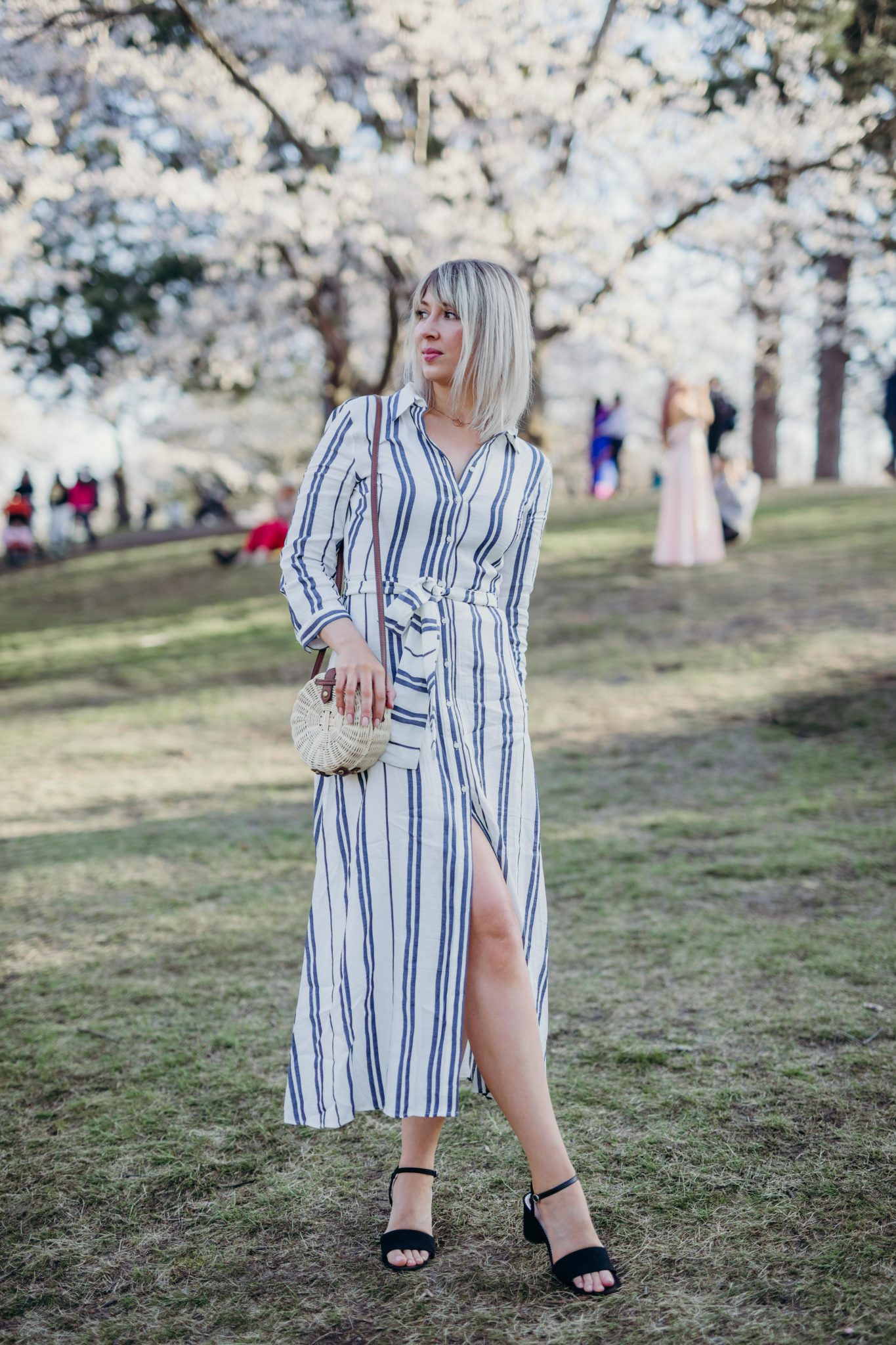Long Striped Dress Style 1
