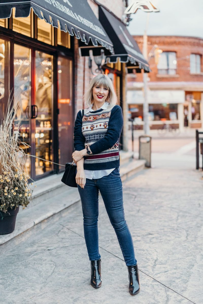 embellished sweater city street style (4 of 11)