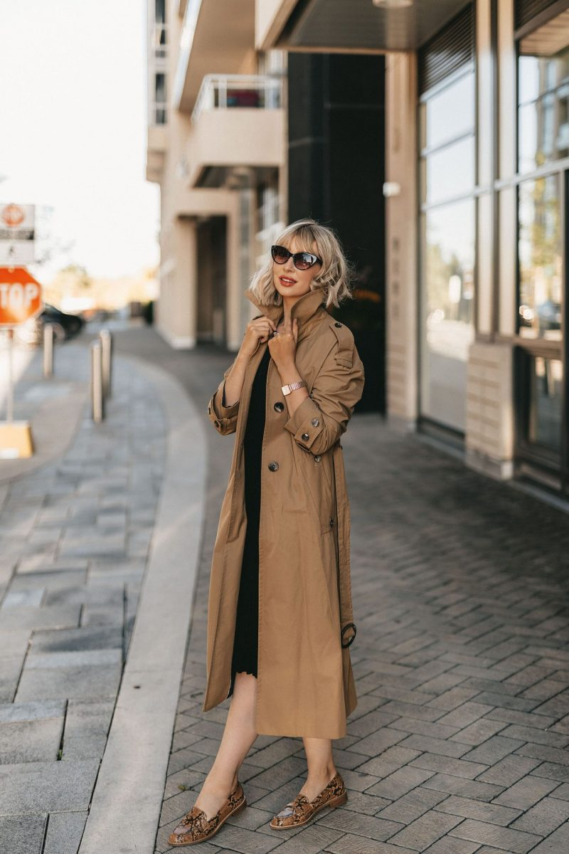 trench coat & knit dress (4 of 5)