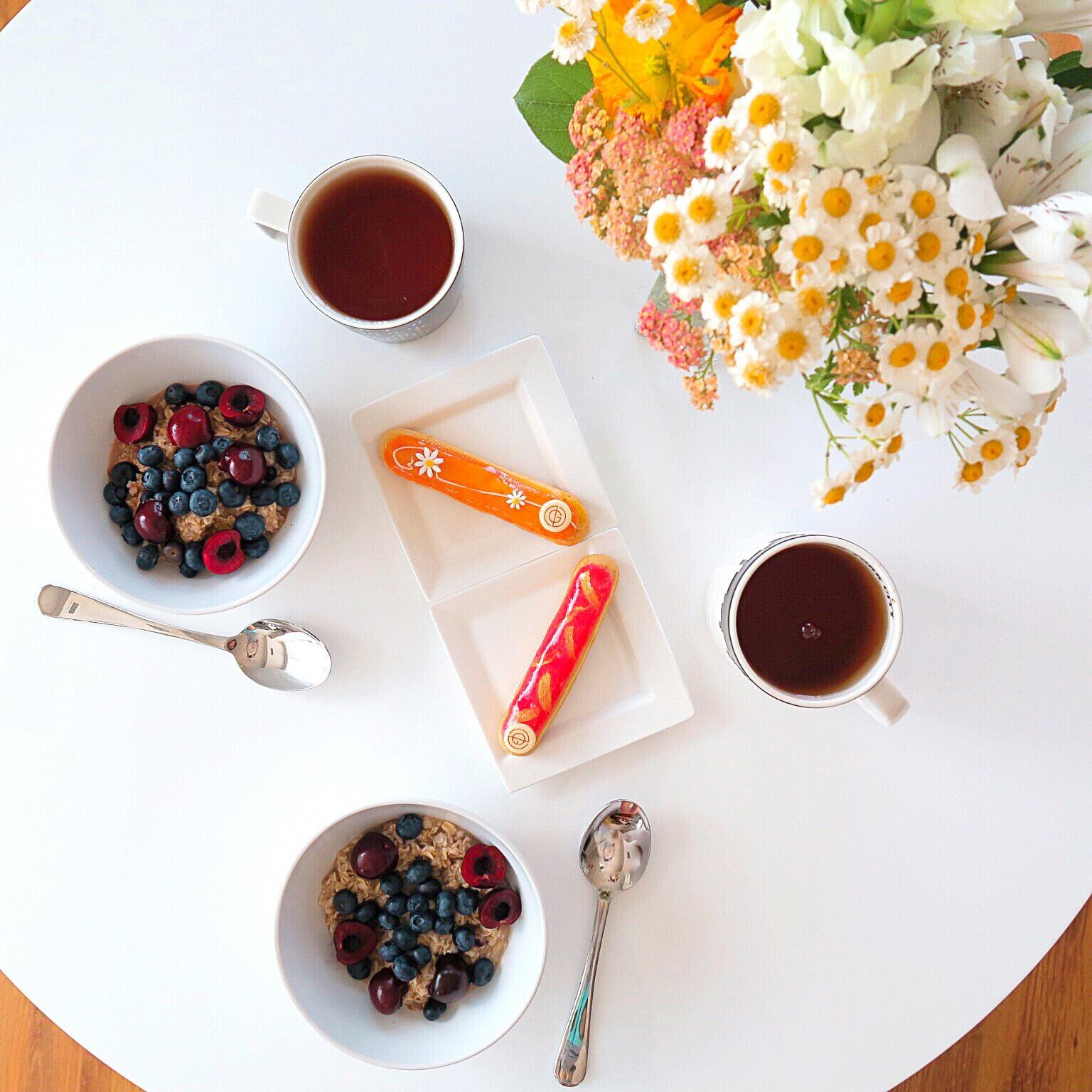healthy breakfast and eclairs weekly highlights