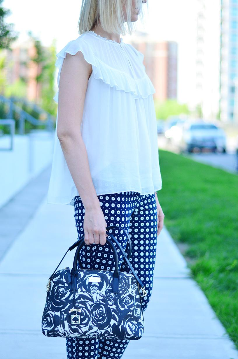 printed pants and frill top 6
