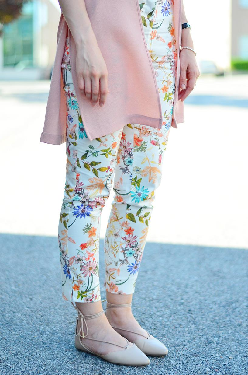 zara printed pants