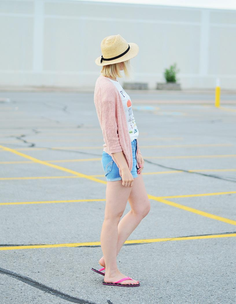 summer style in denim shorts
