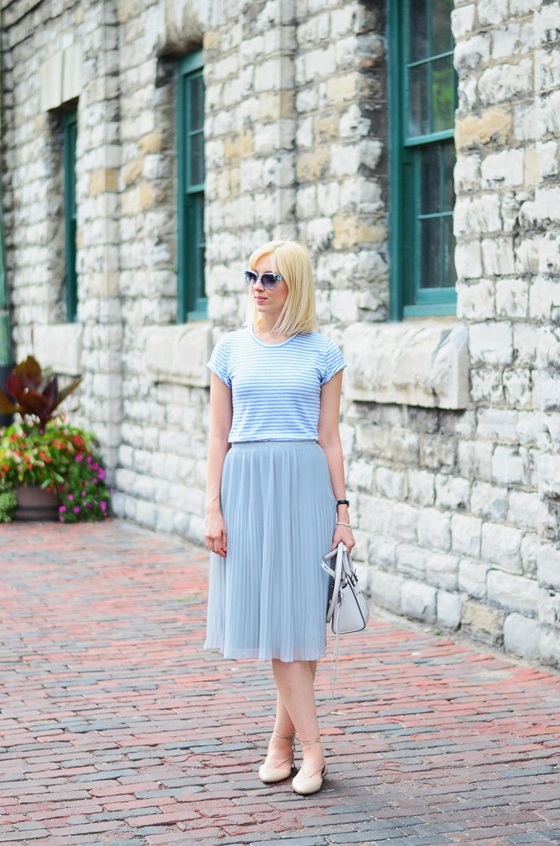pleated skirt summer style 2