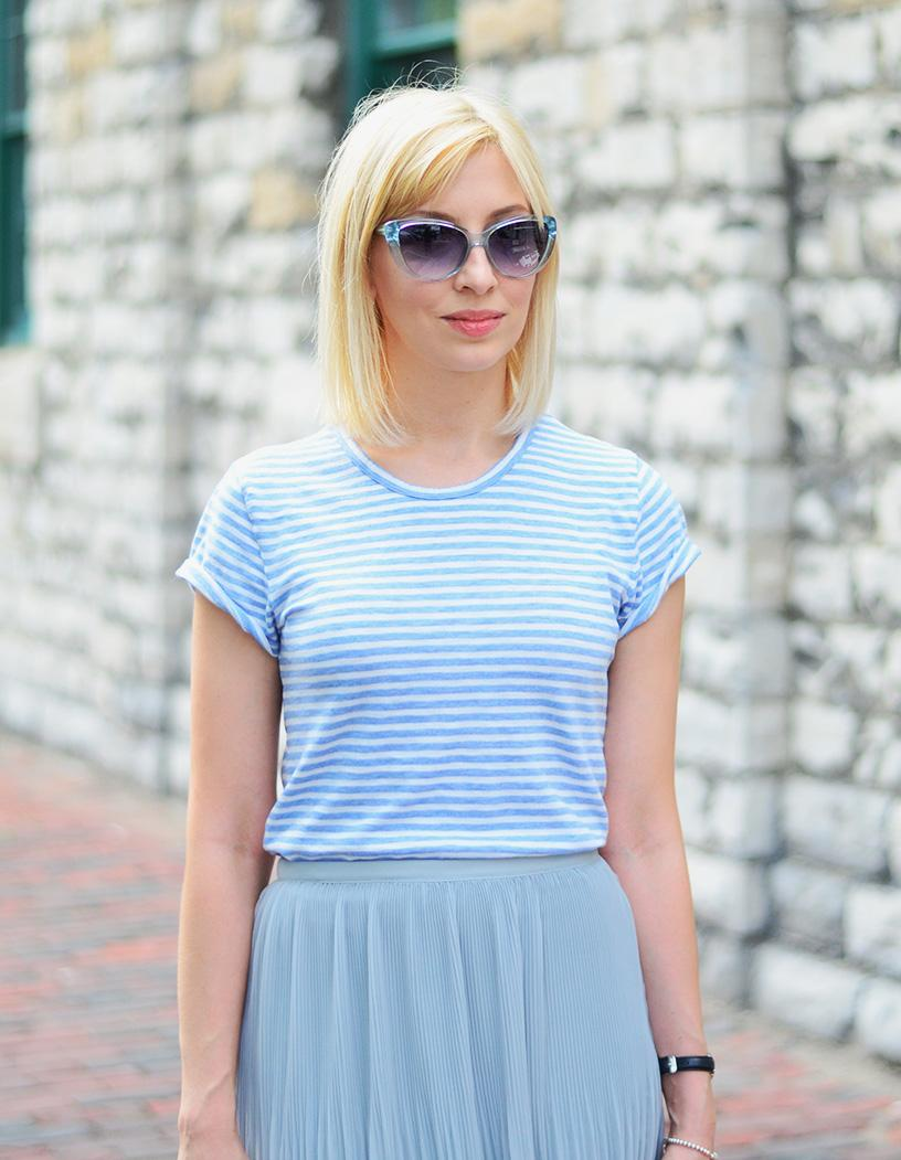 j. crew stripe t-shirt