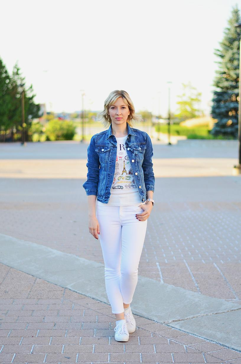 denim jacket white pants style 3
