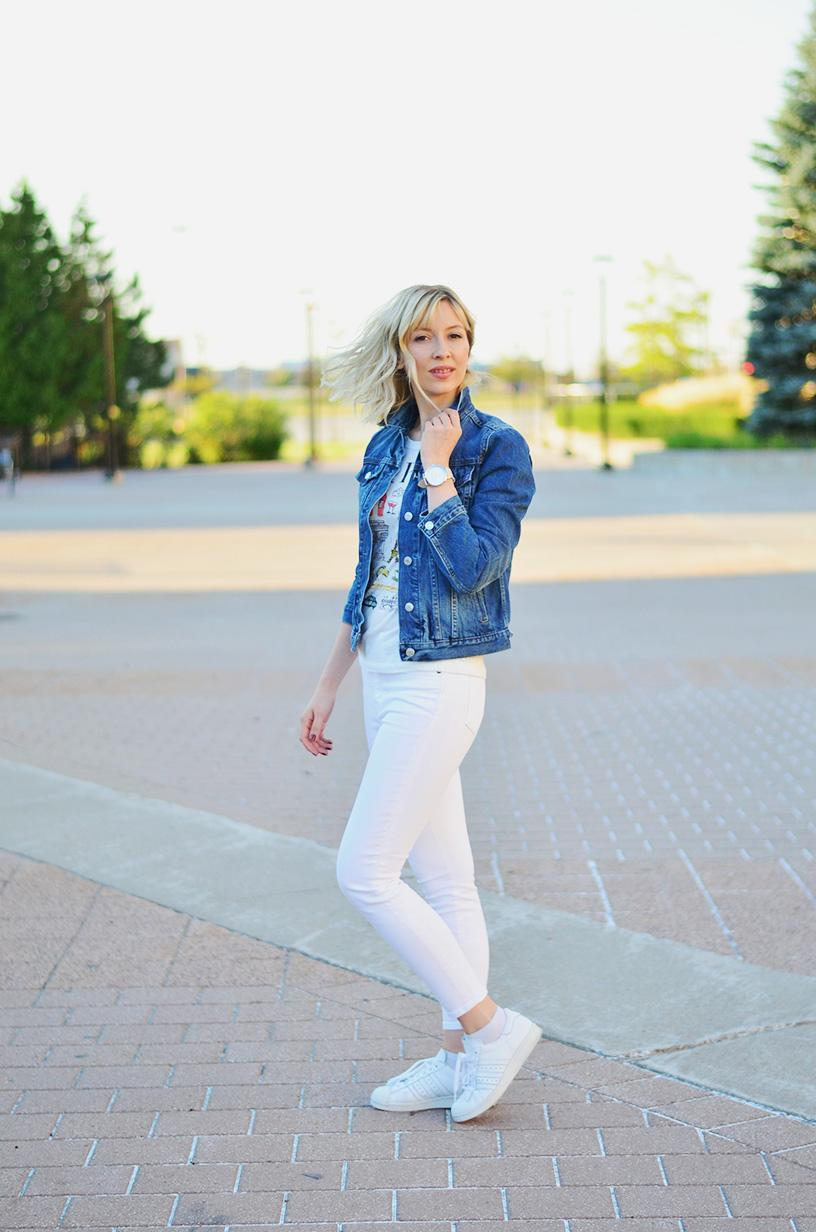 denim jacket white pants style 5