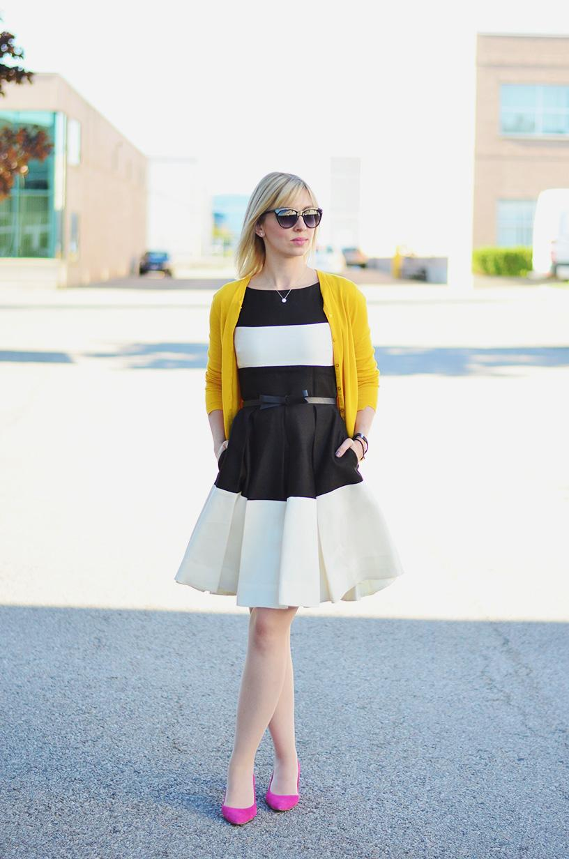 stripe dress summer to fall transition 3