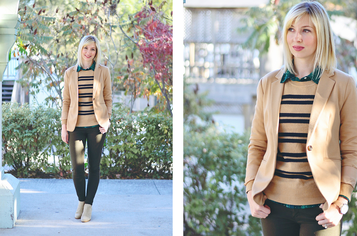khaki pants & wool sweater style