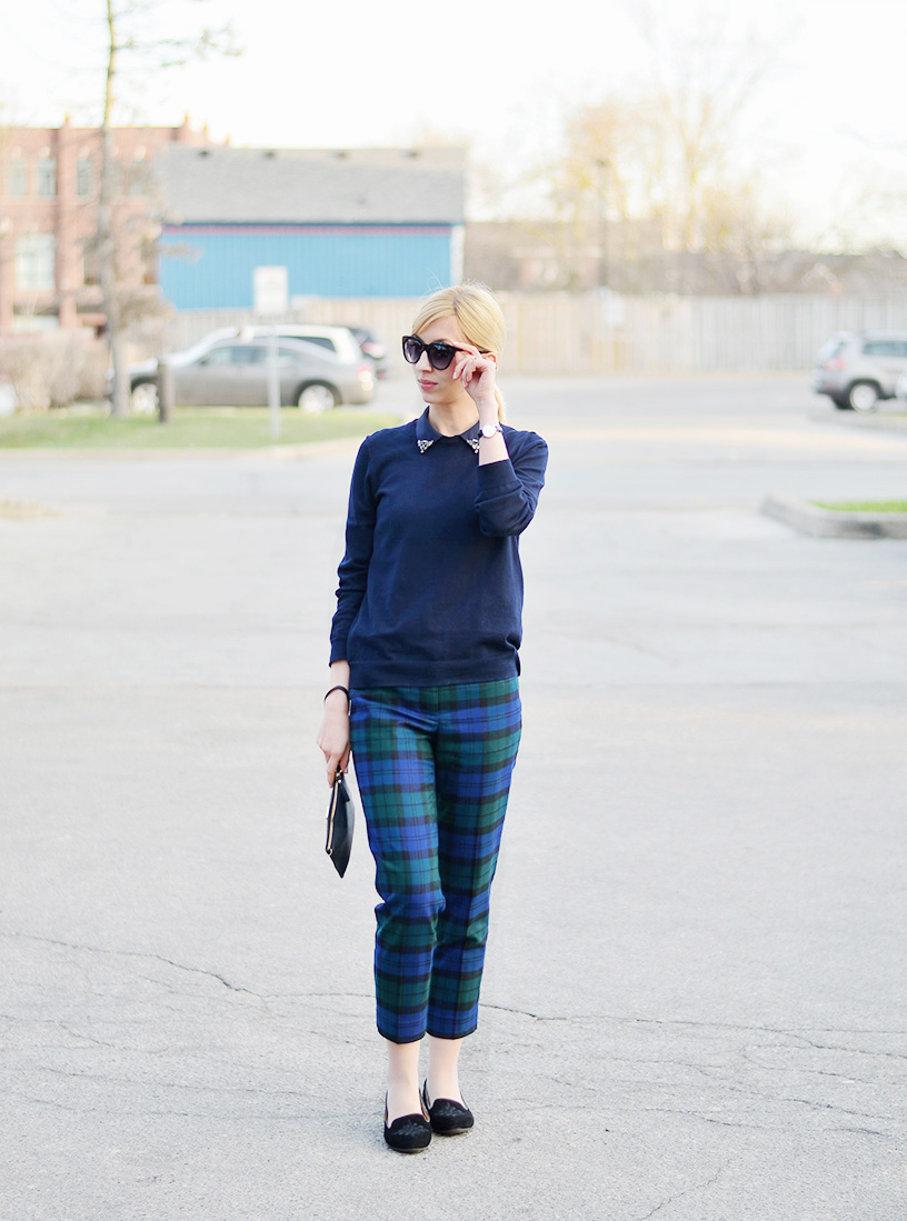 casual plaid pants style