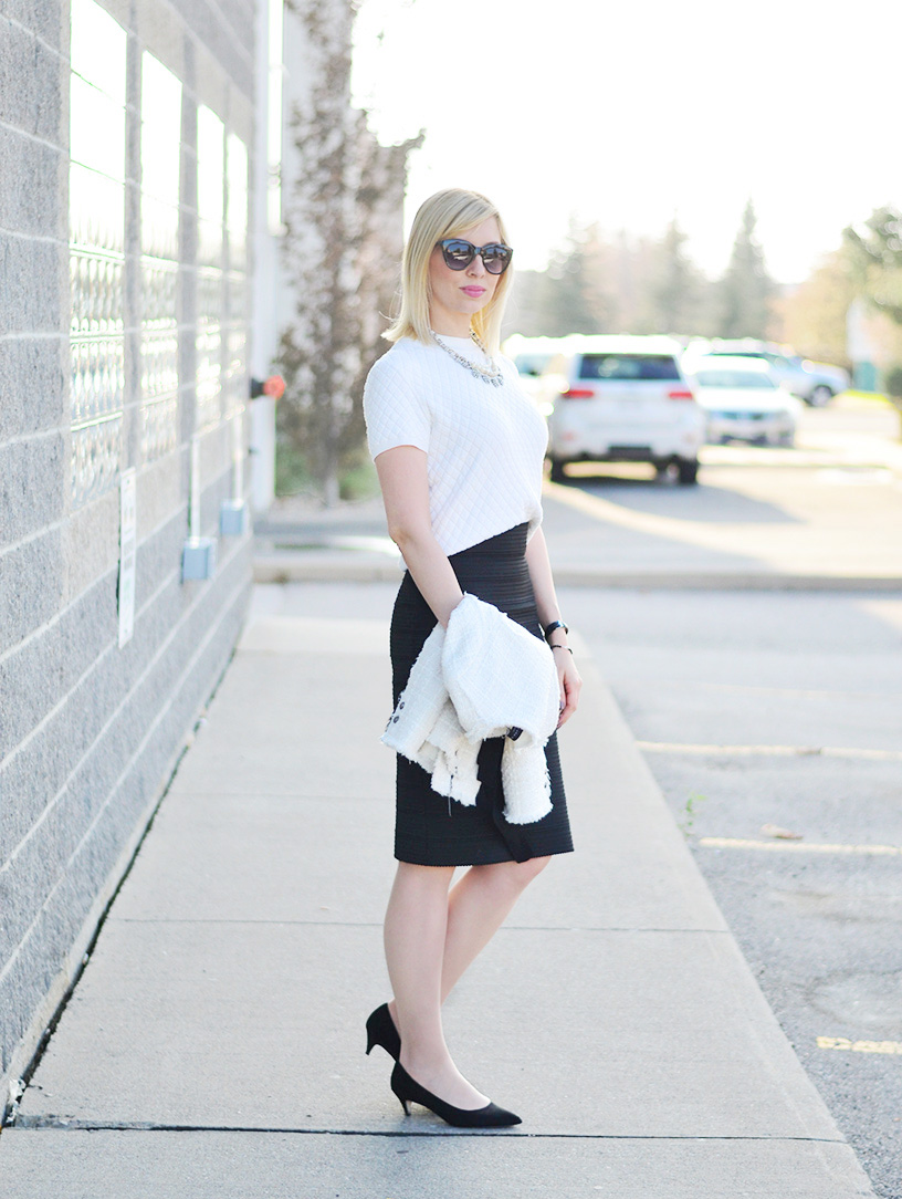 chanel inspired work outfit