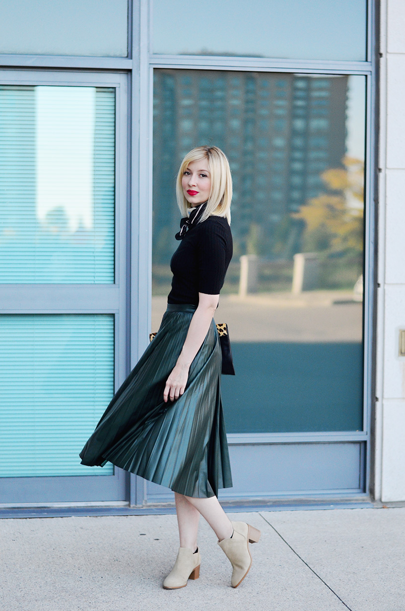 leather effect midi skirt 4