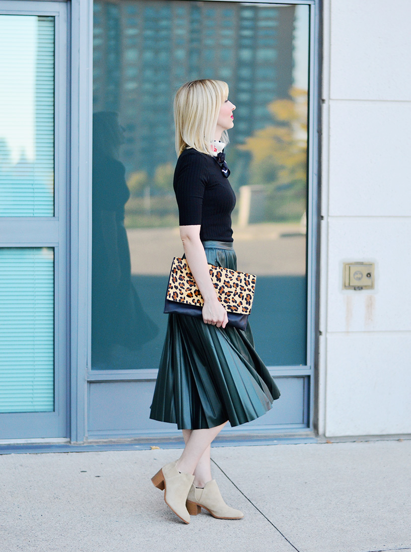 leather effect midi skirt 6