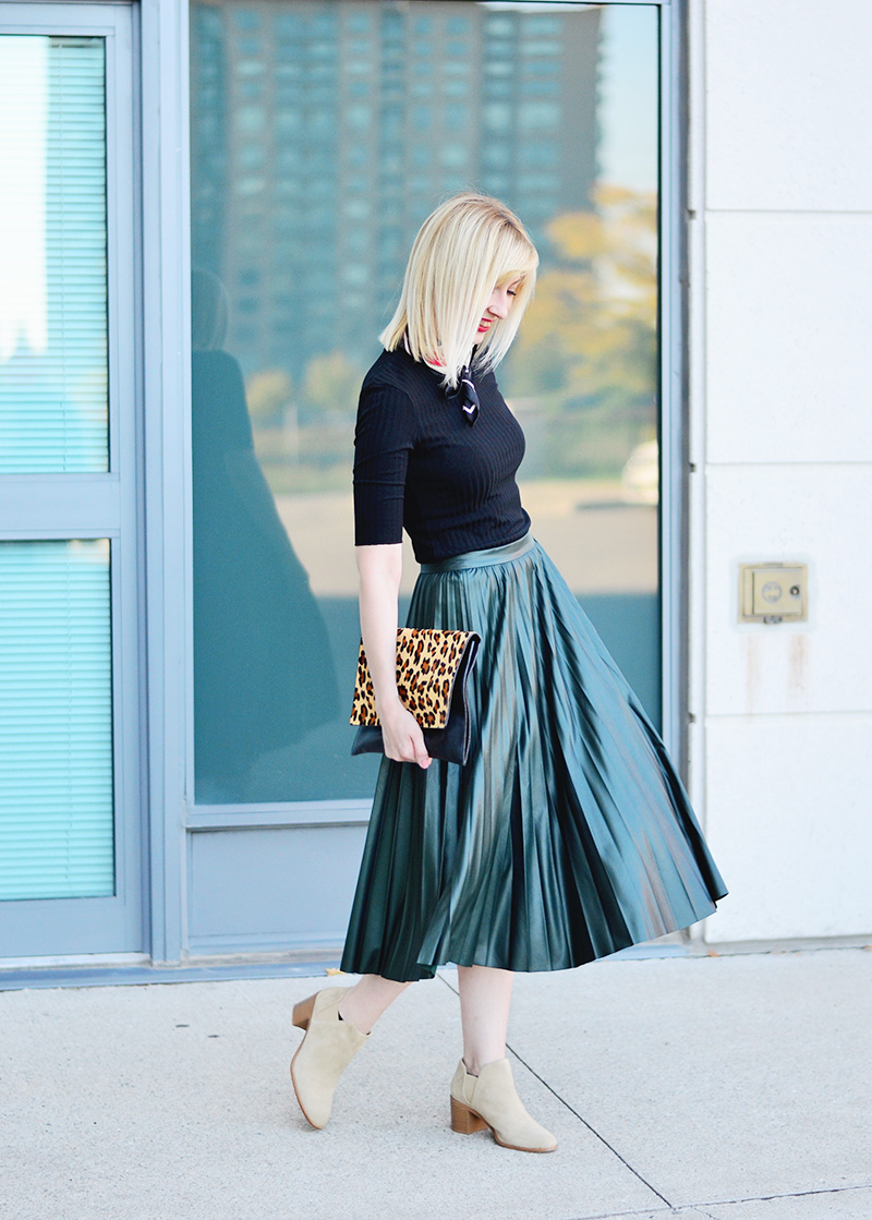 leather effect midi skirt 8