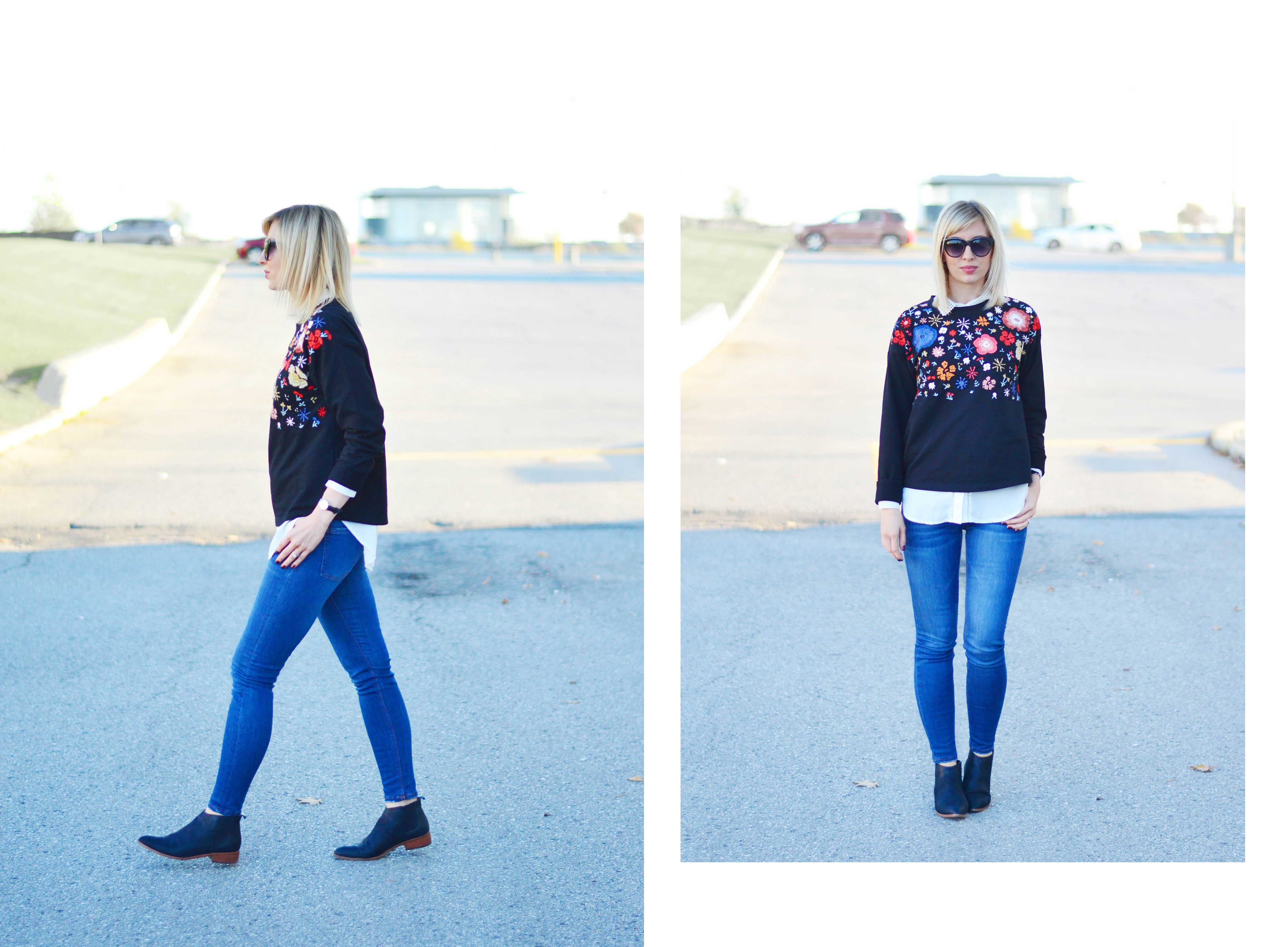 how to style floral embroidery for fall