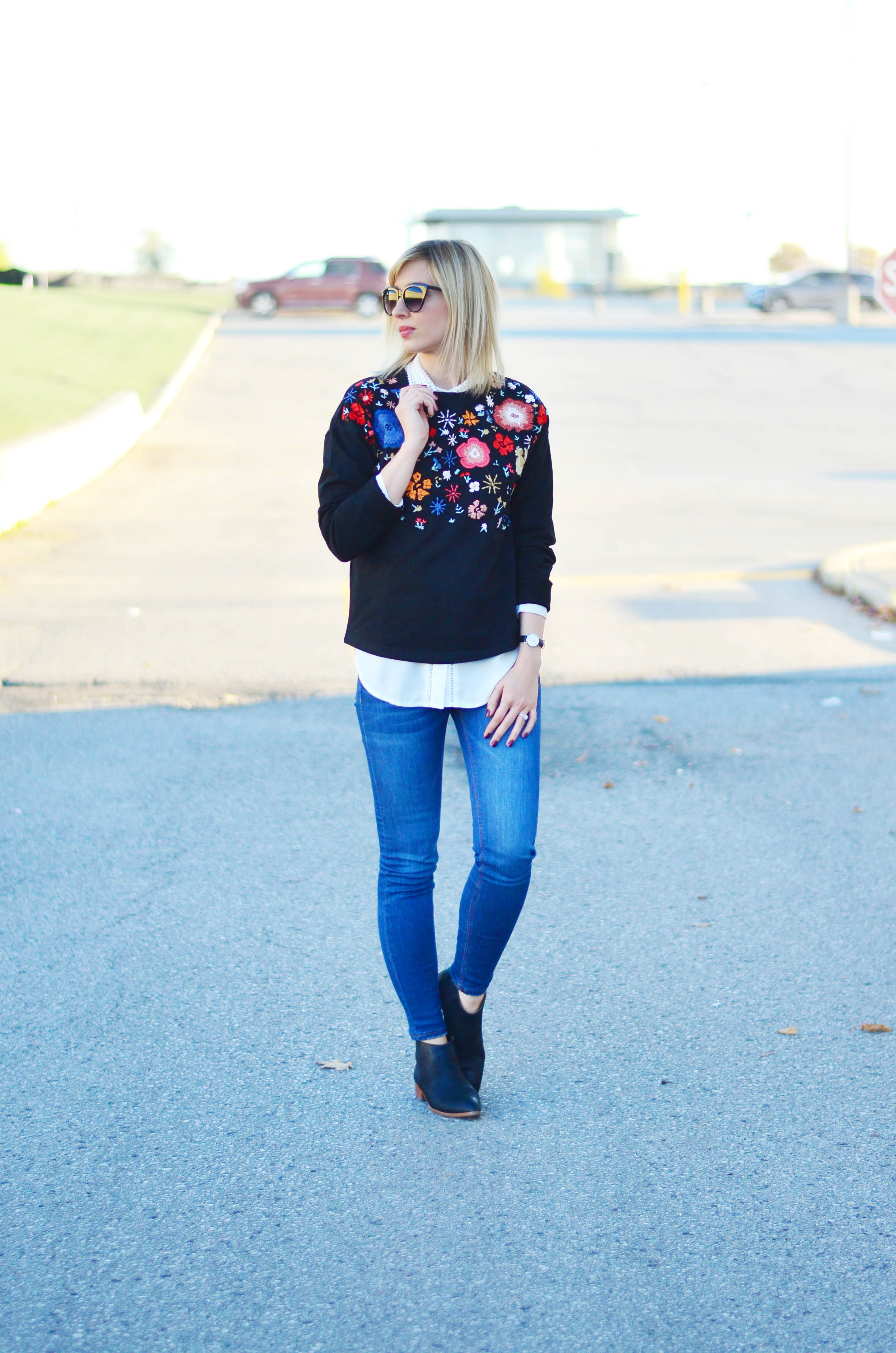 floral embroidery for fall