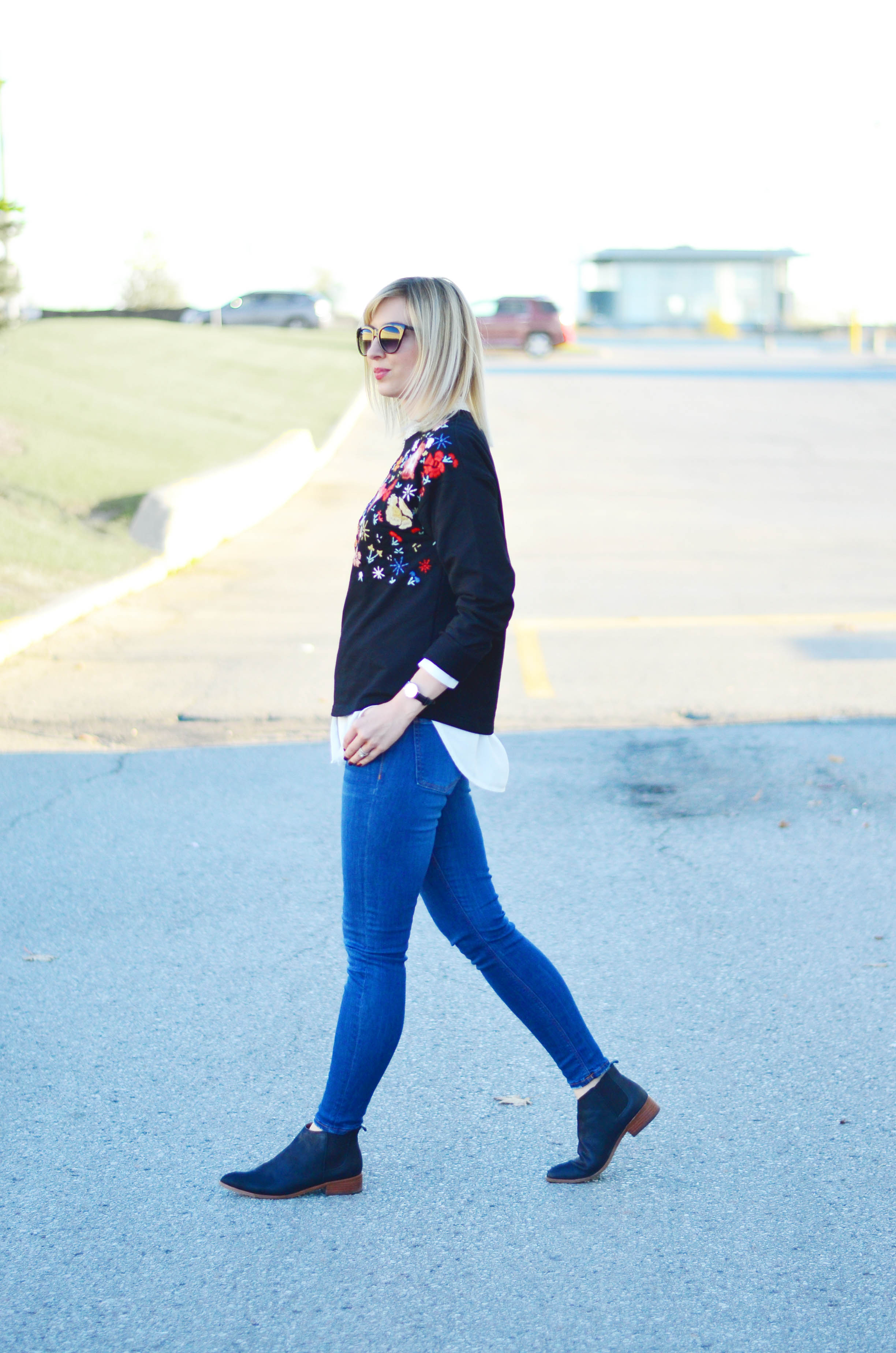floral sweatshirt for fall
