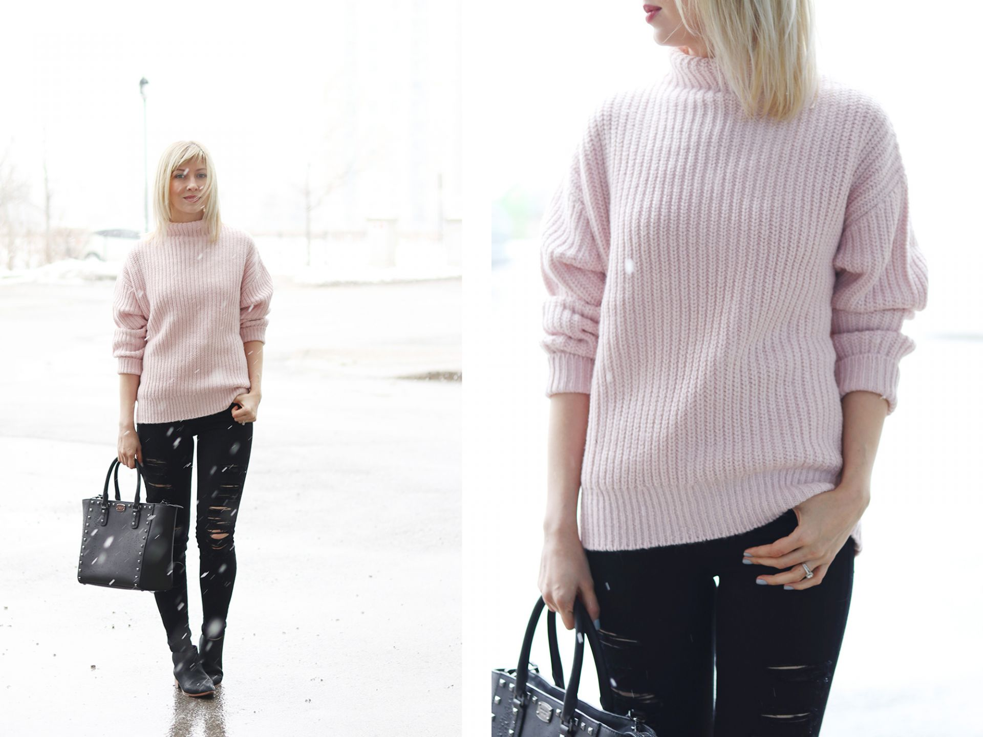 gap pink sweater