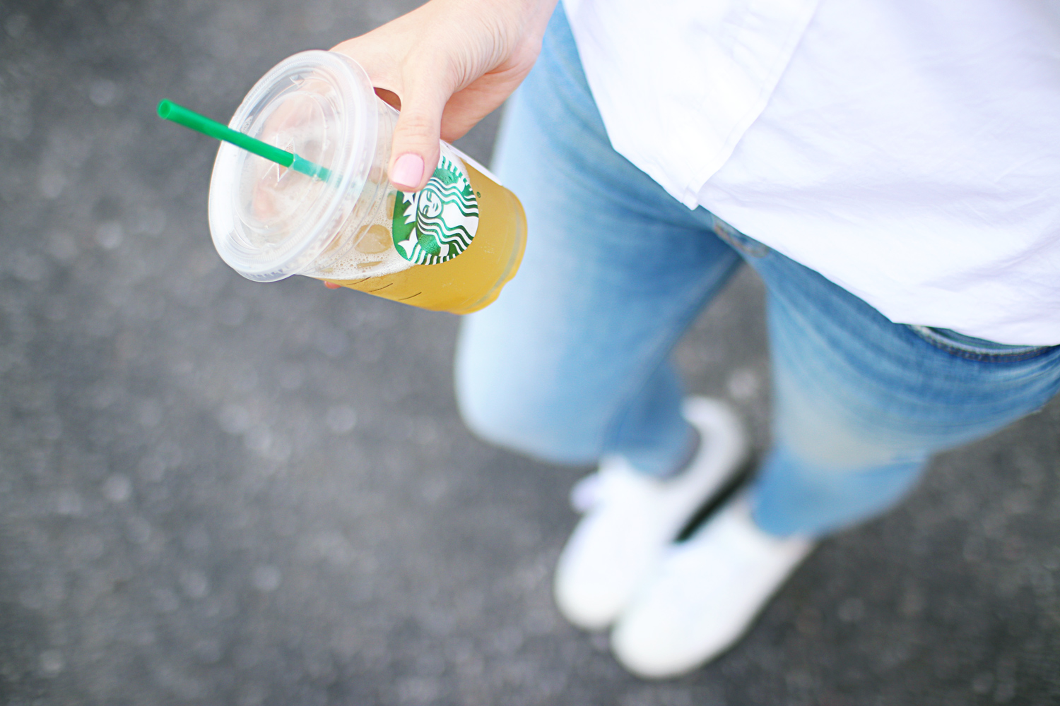 white shirt and lemonade