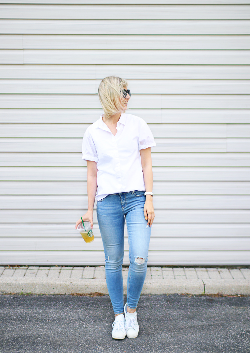 casual white shirt style 2