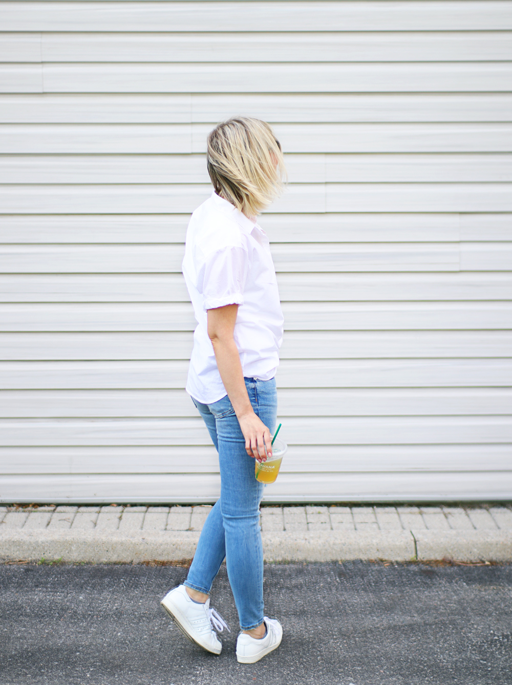 casual white shirt style 3