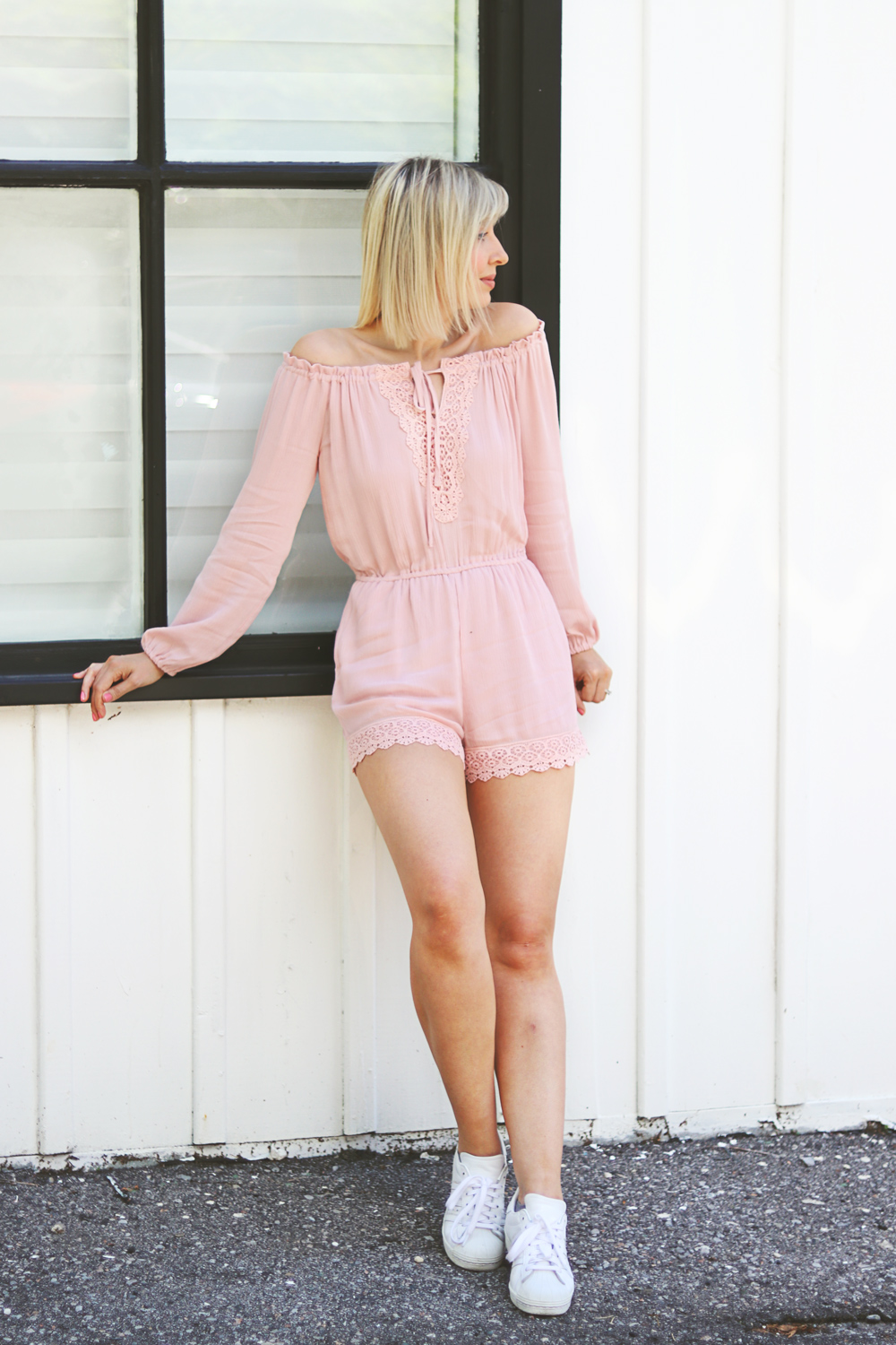 pink summer romper style