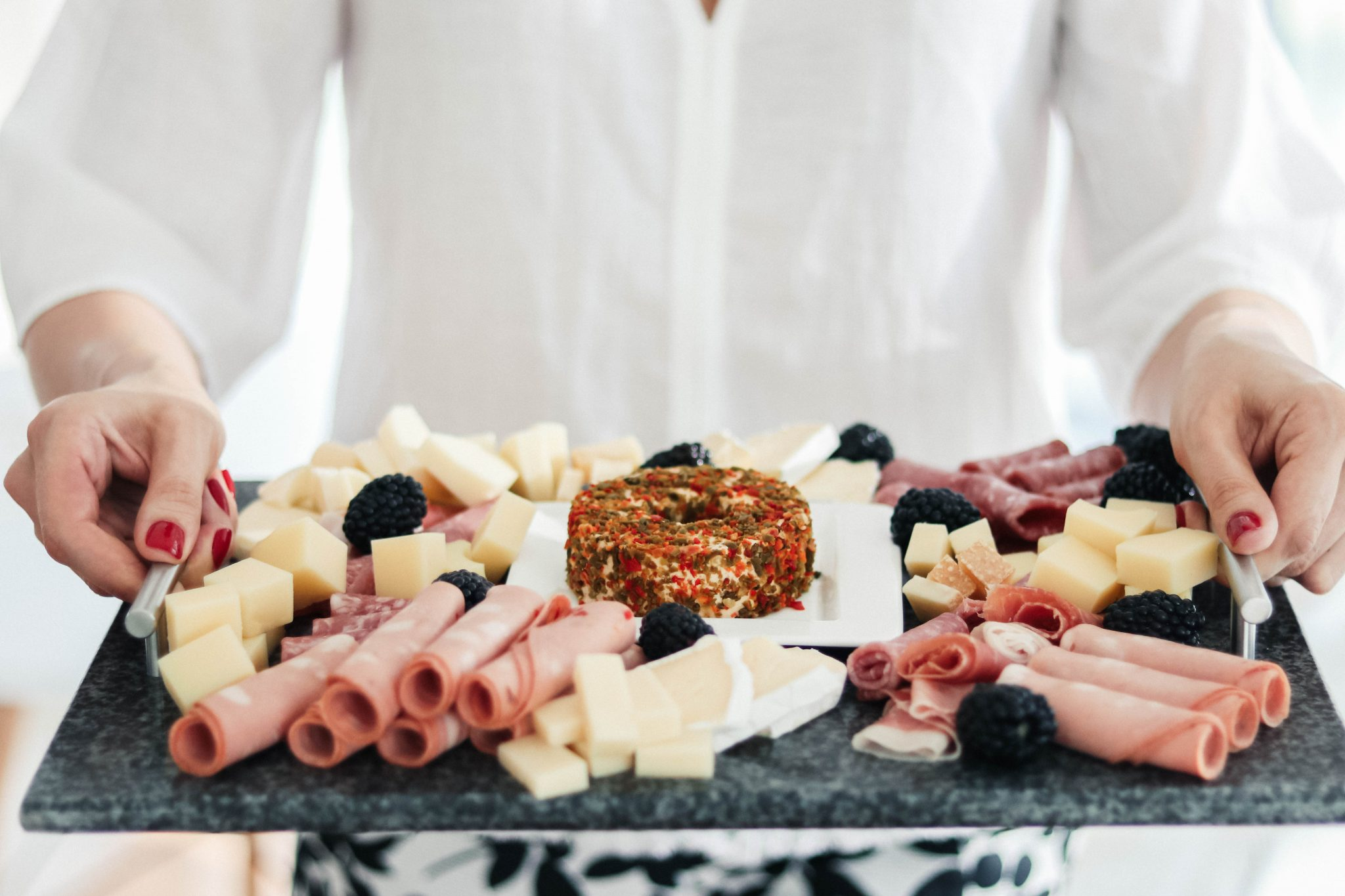 cheese and meat instagrammable board