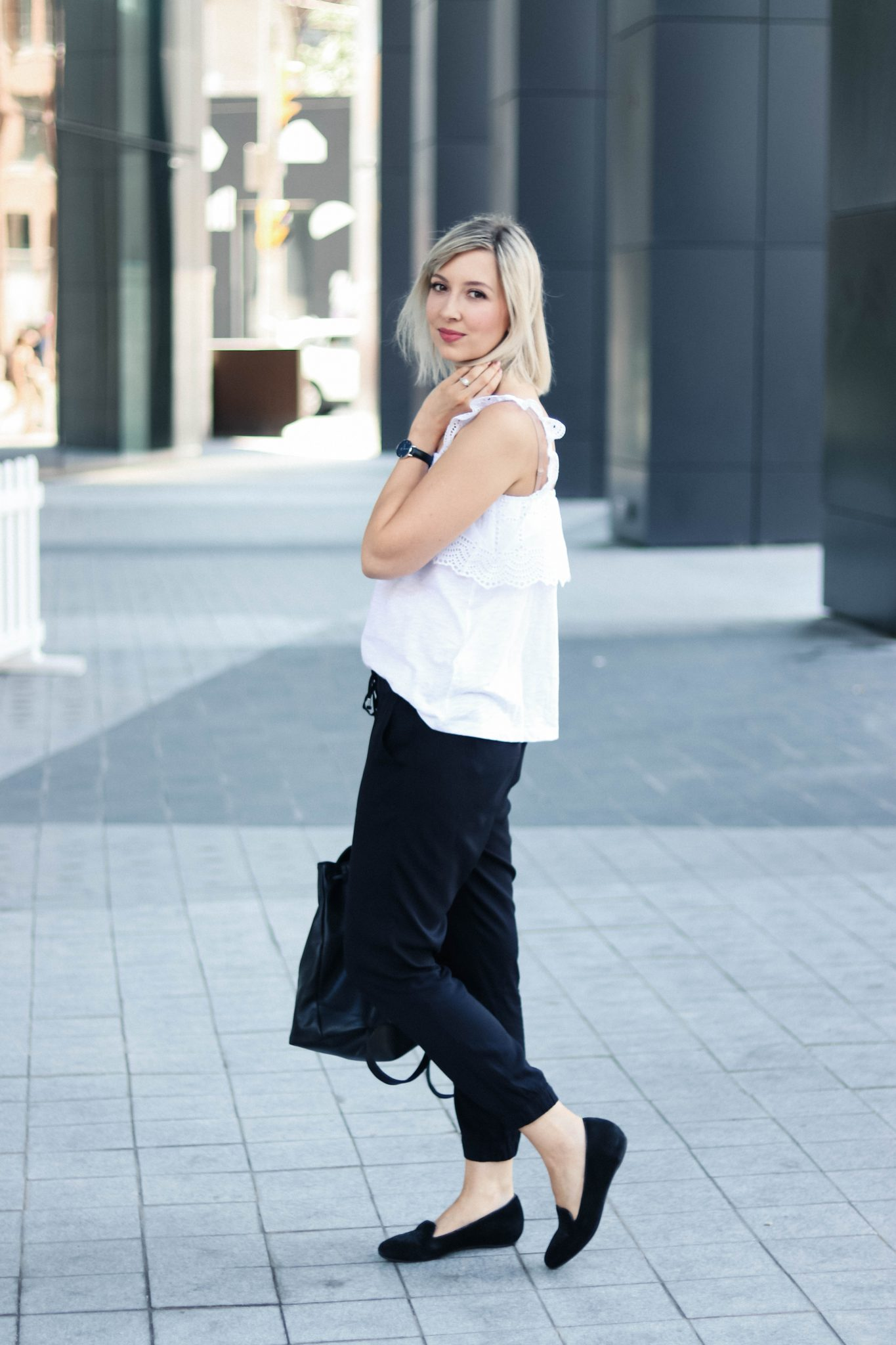 hm eyelet top casual style
