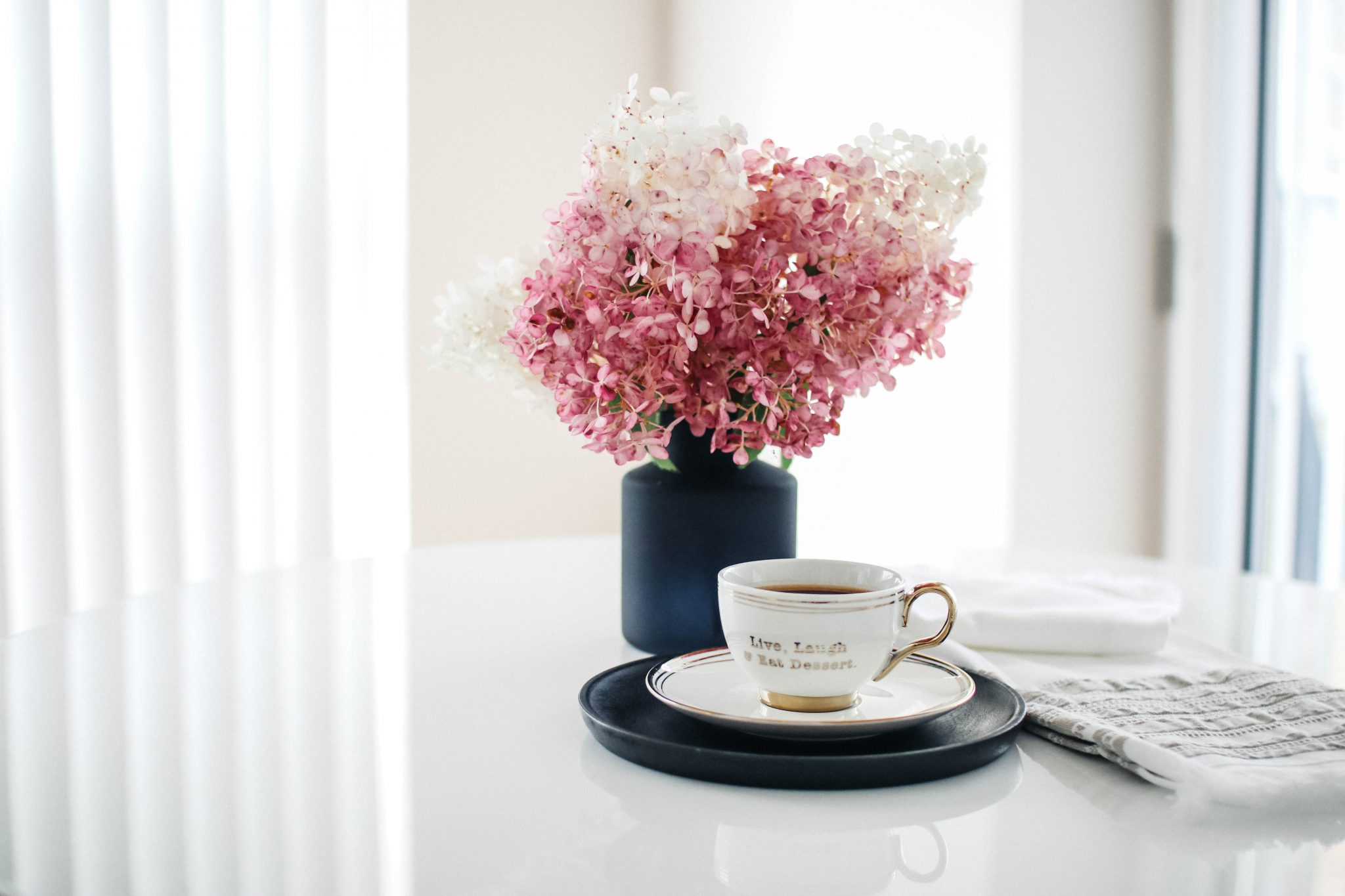 vanilla strawberry hydrangea coffee morning