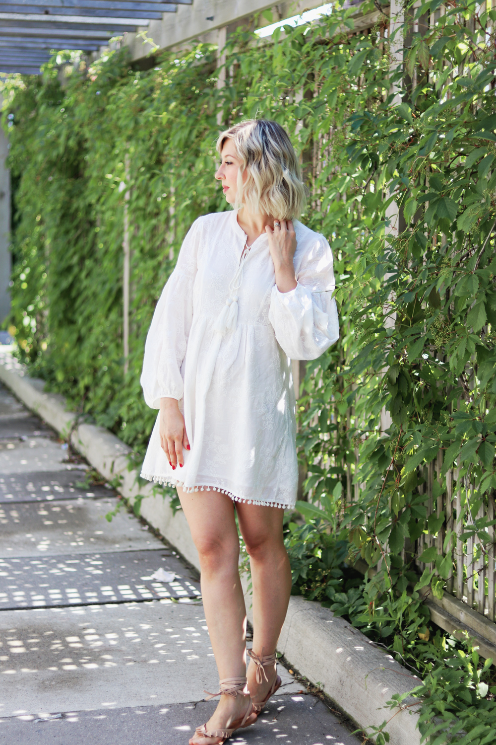 zara embroidered white cotton dress