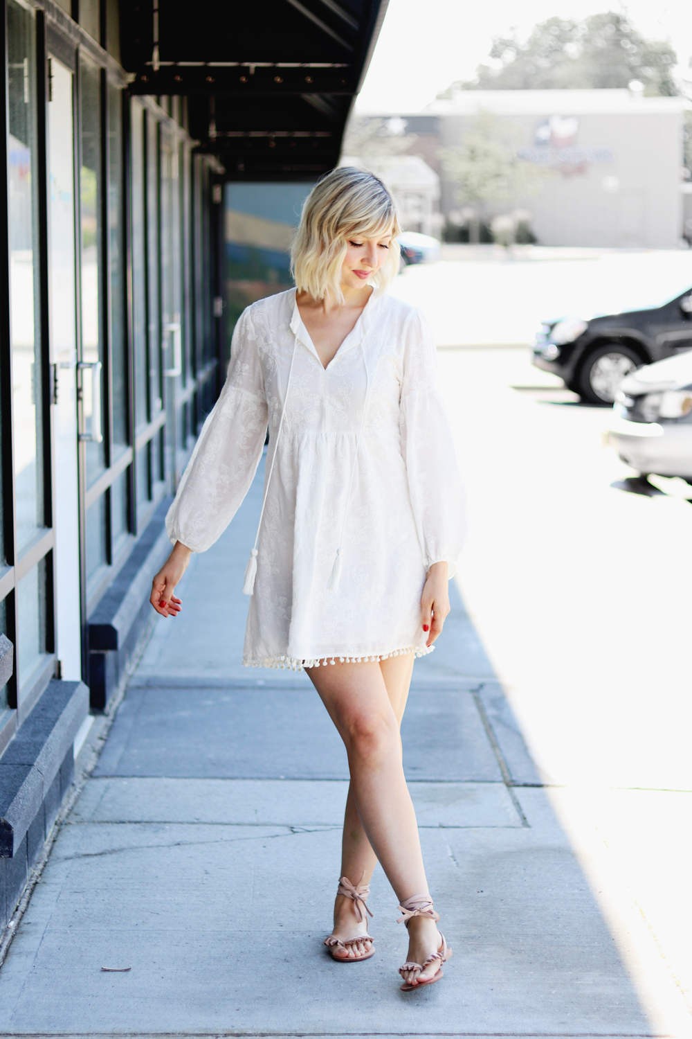 cotton summer zara dress