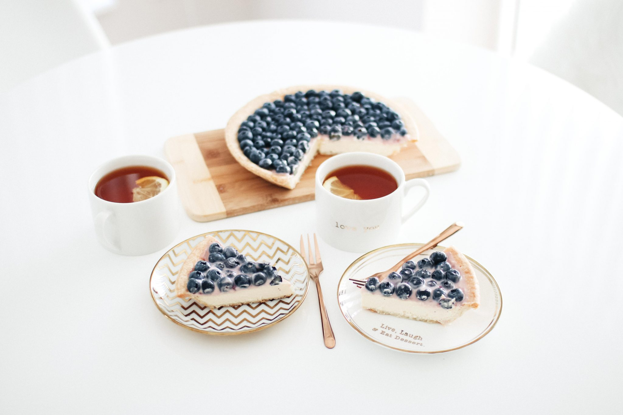 fast and easy blueberry cheescake recipe