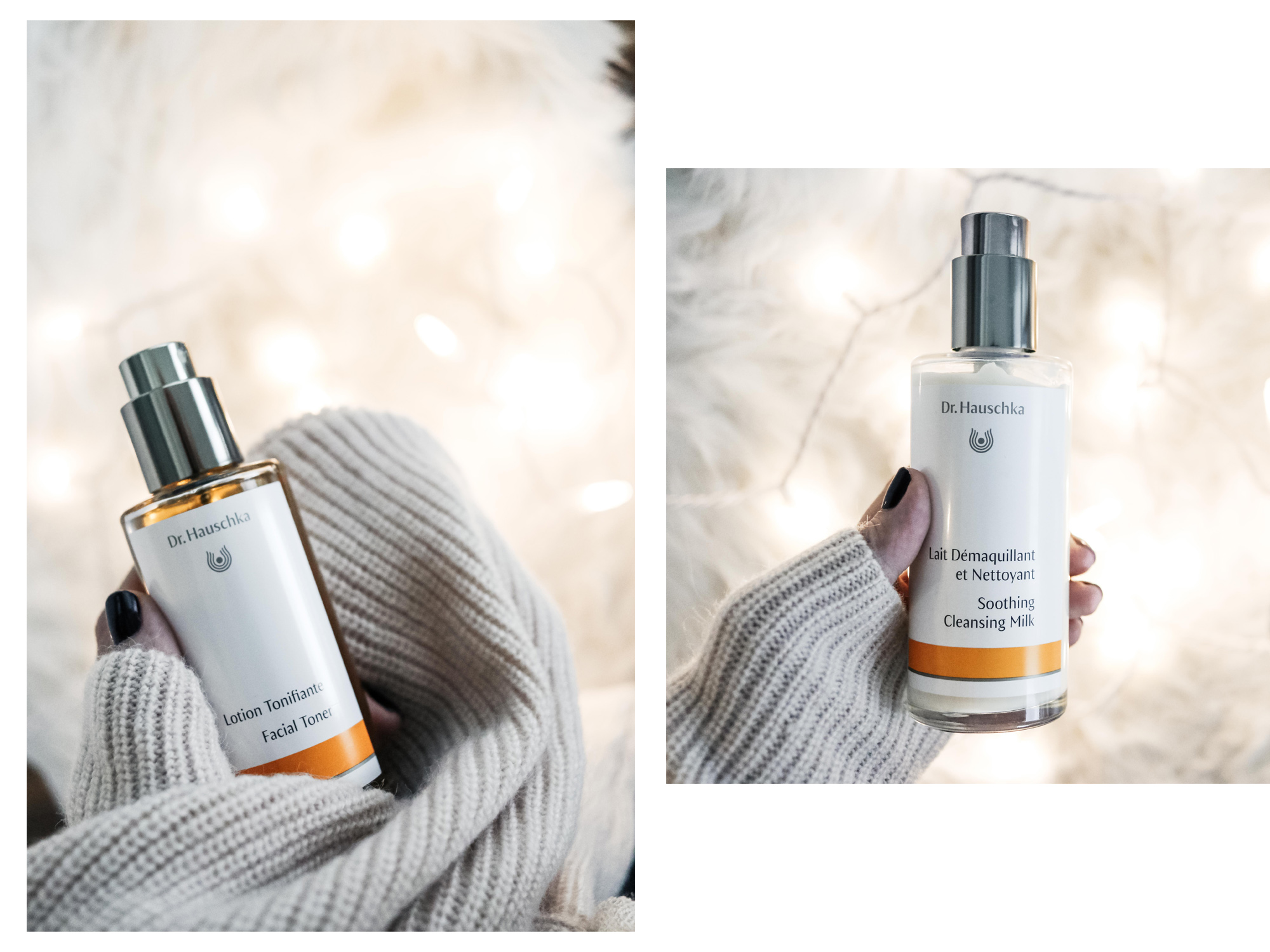 cleanser and toner Dr. Hauschka