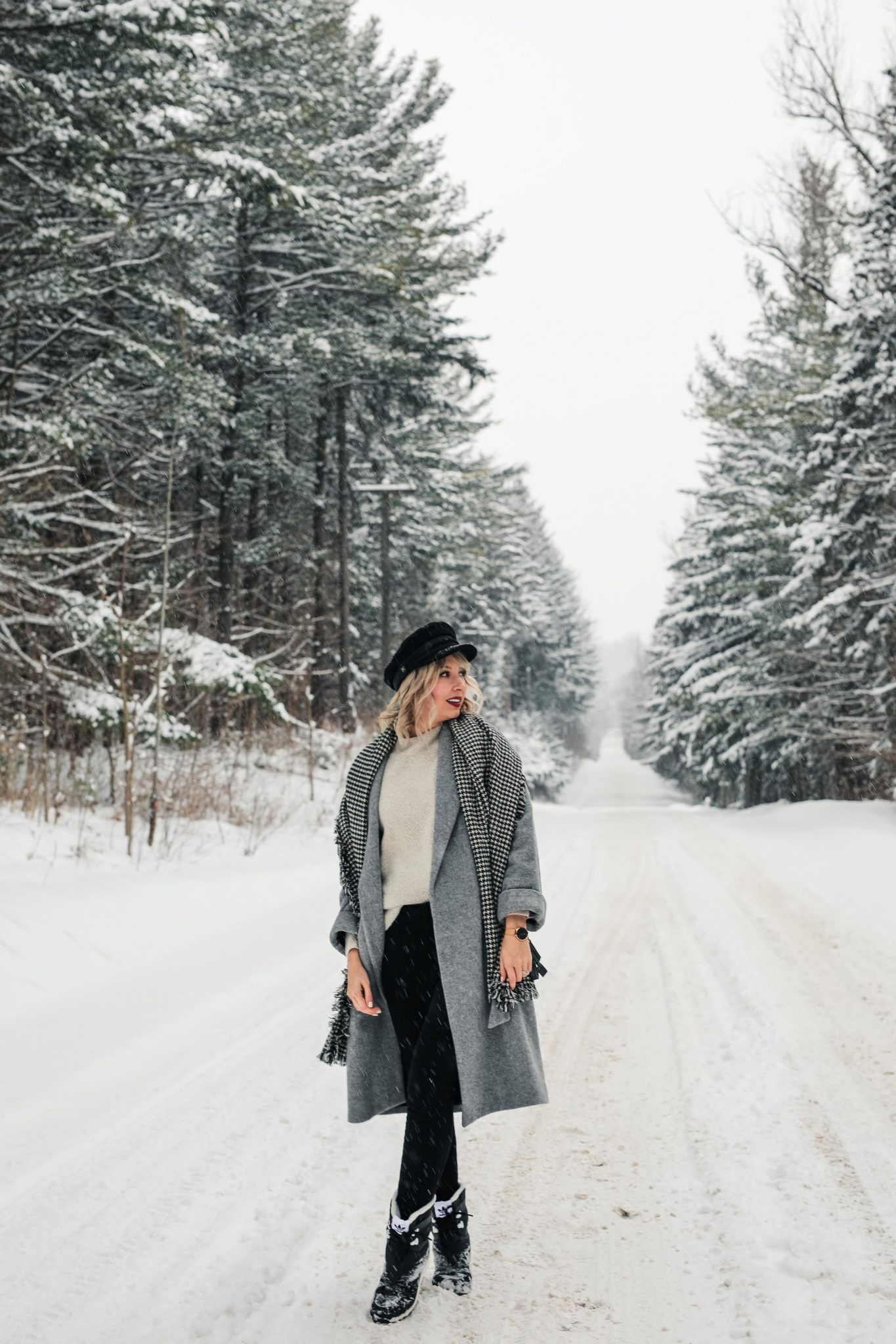 winter long grey coat style 1