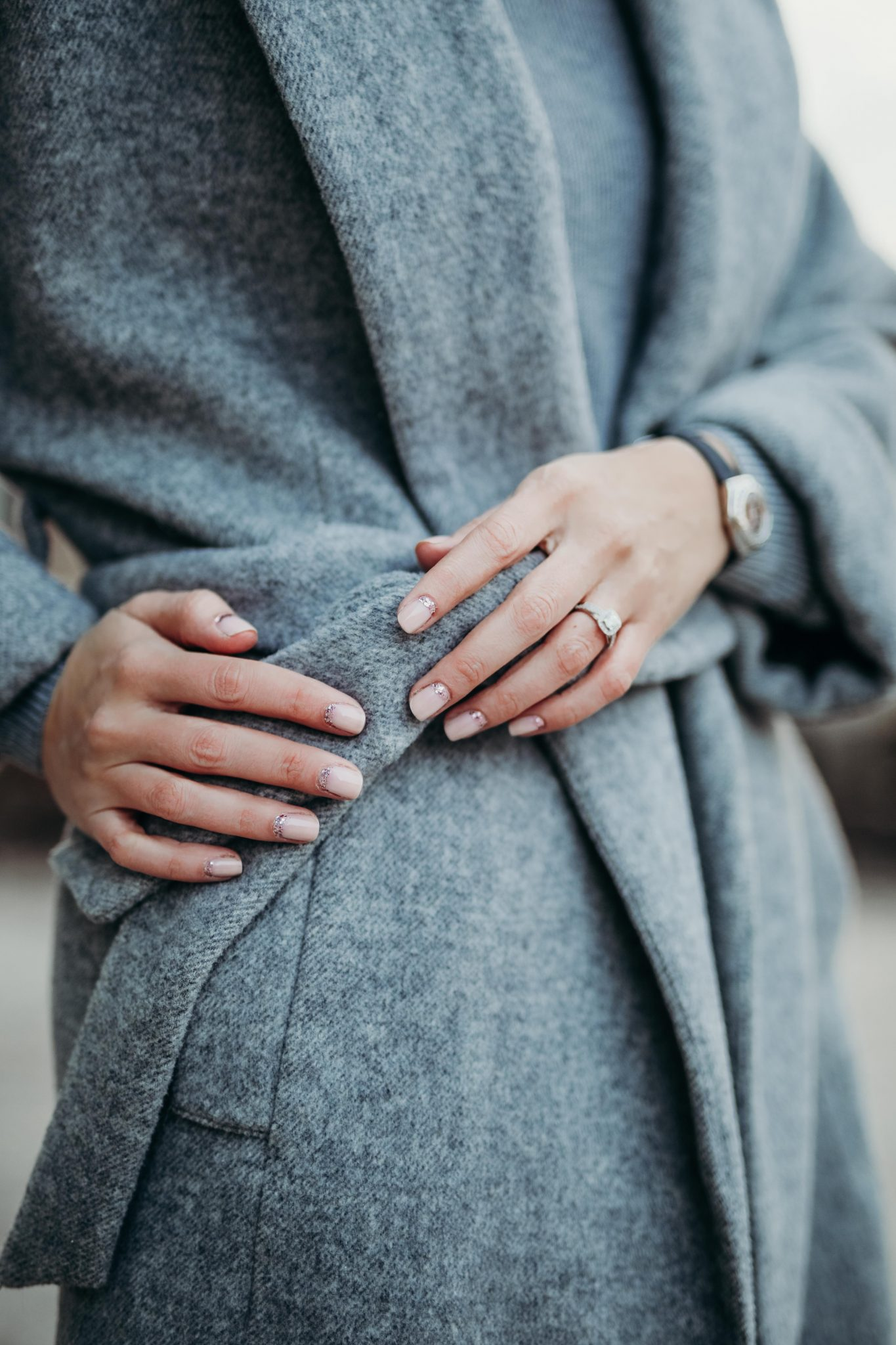 grey knit dress & long coat (9 of 10)
