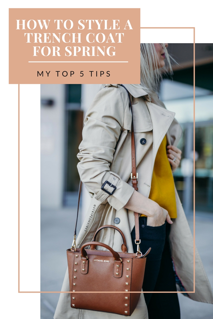 how to style a trench coat for spring tips