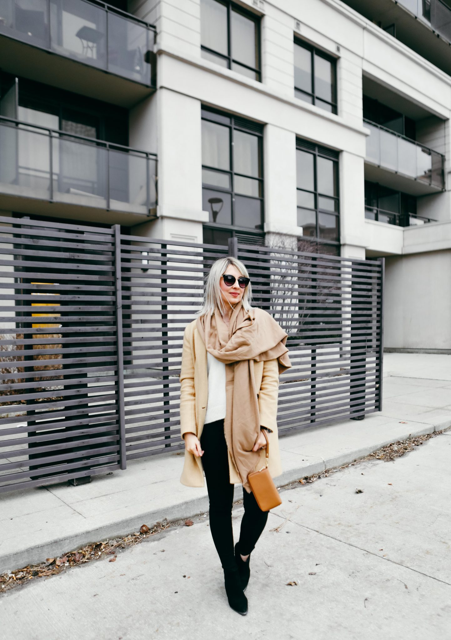 brown coat and long scarf street style (7 of 9)