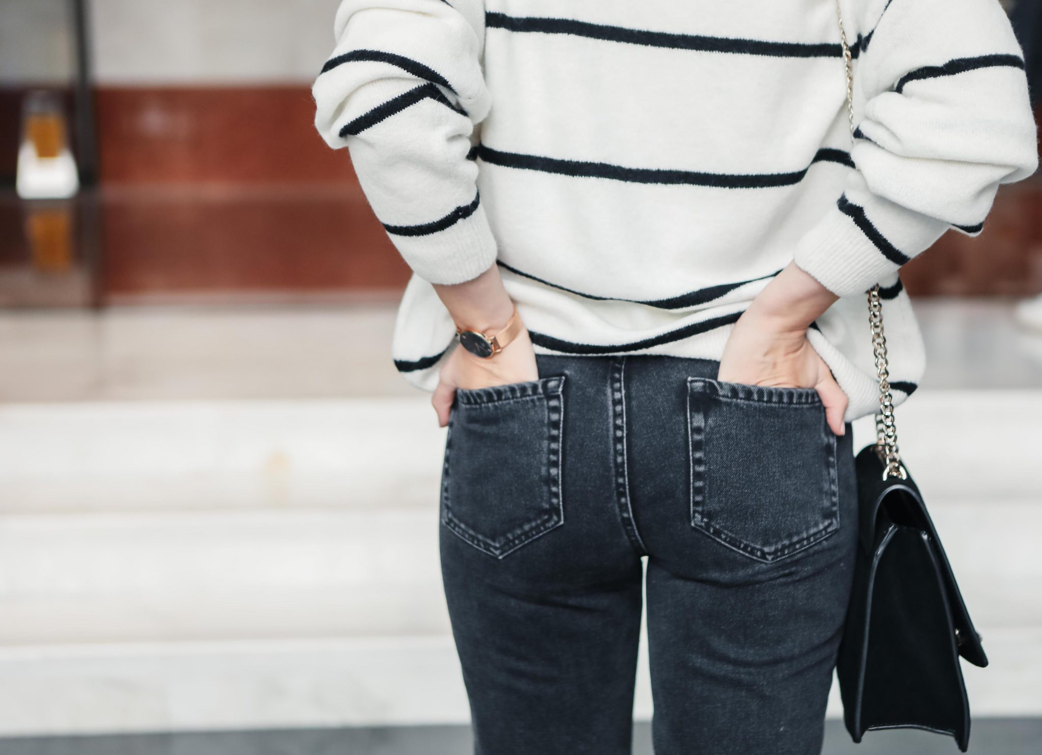mom jeans stripe sweater spring style 1