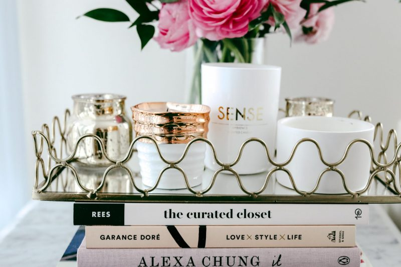 fave scented candles and coffee table books