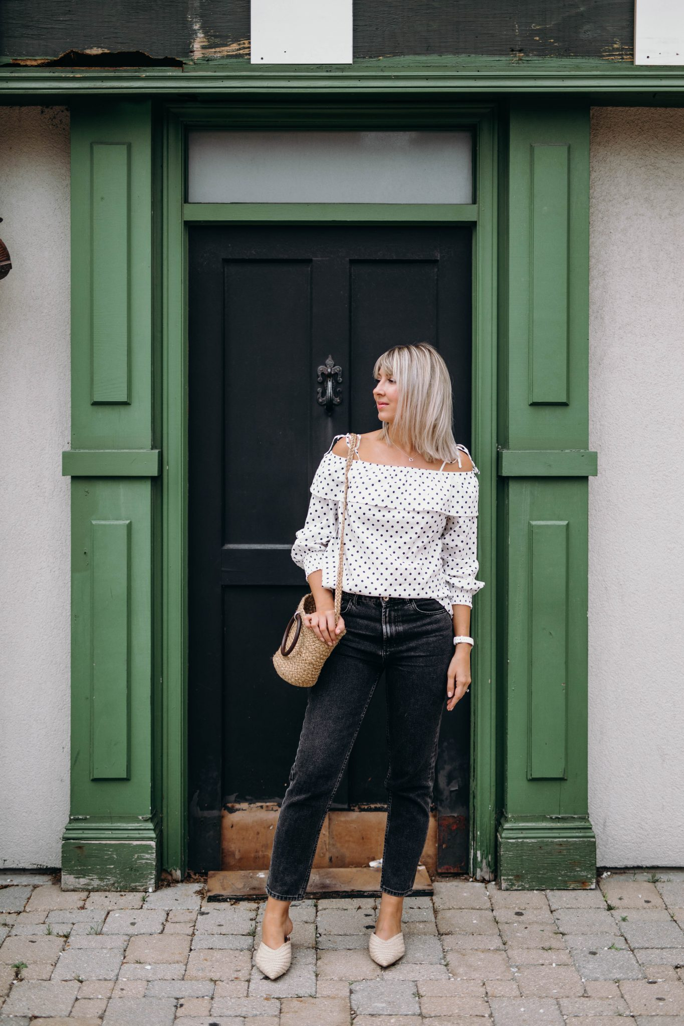 high waisted jeans summer style 3