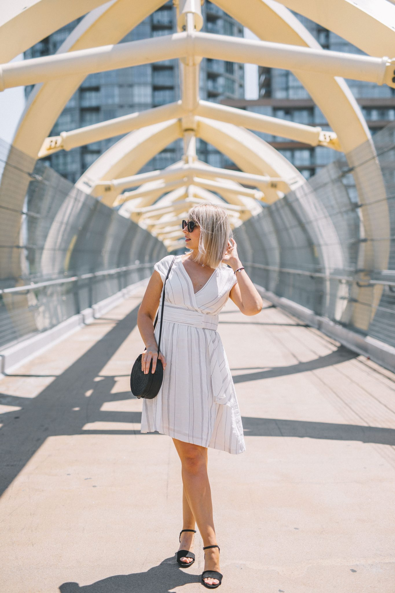 striped linen dress style 1