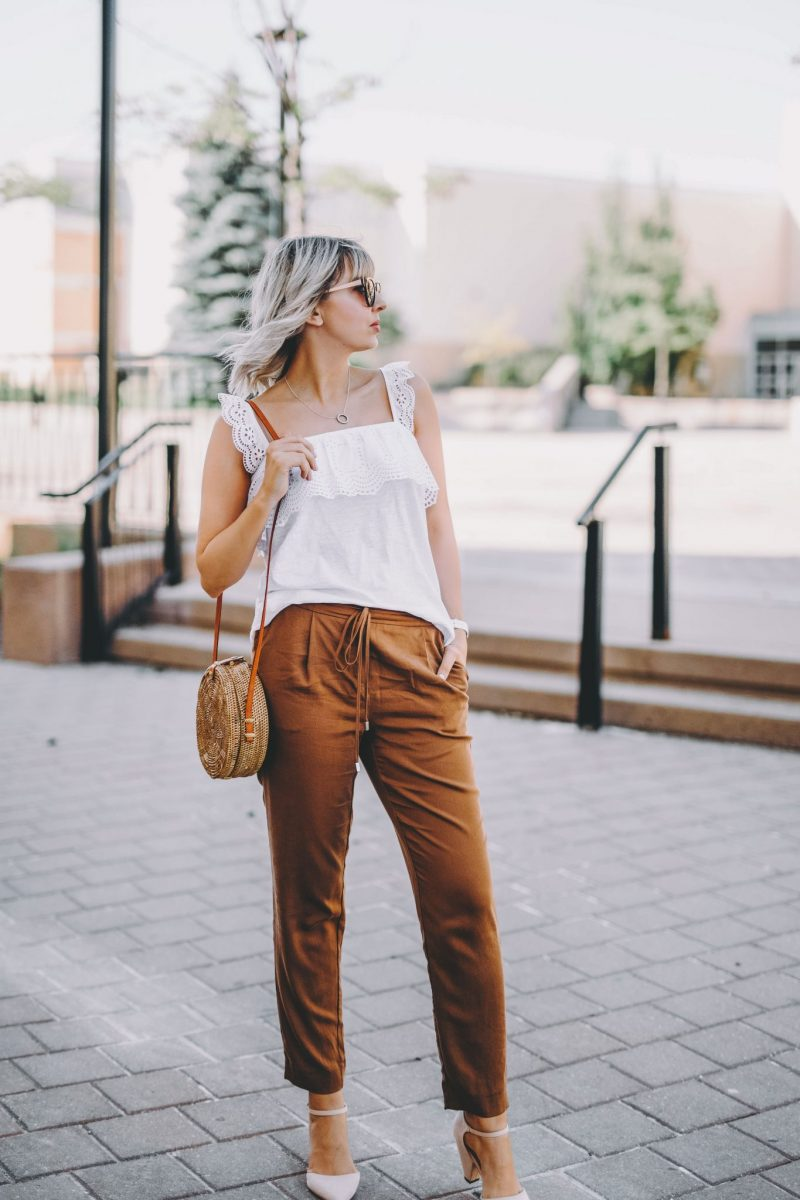 Rusty Orange Pants two ways 4
