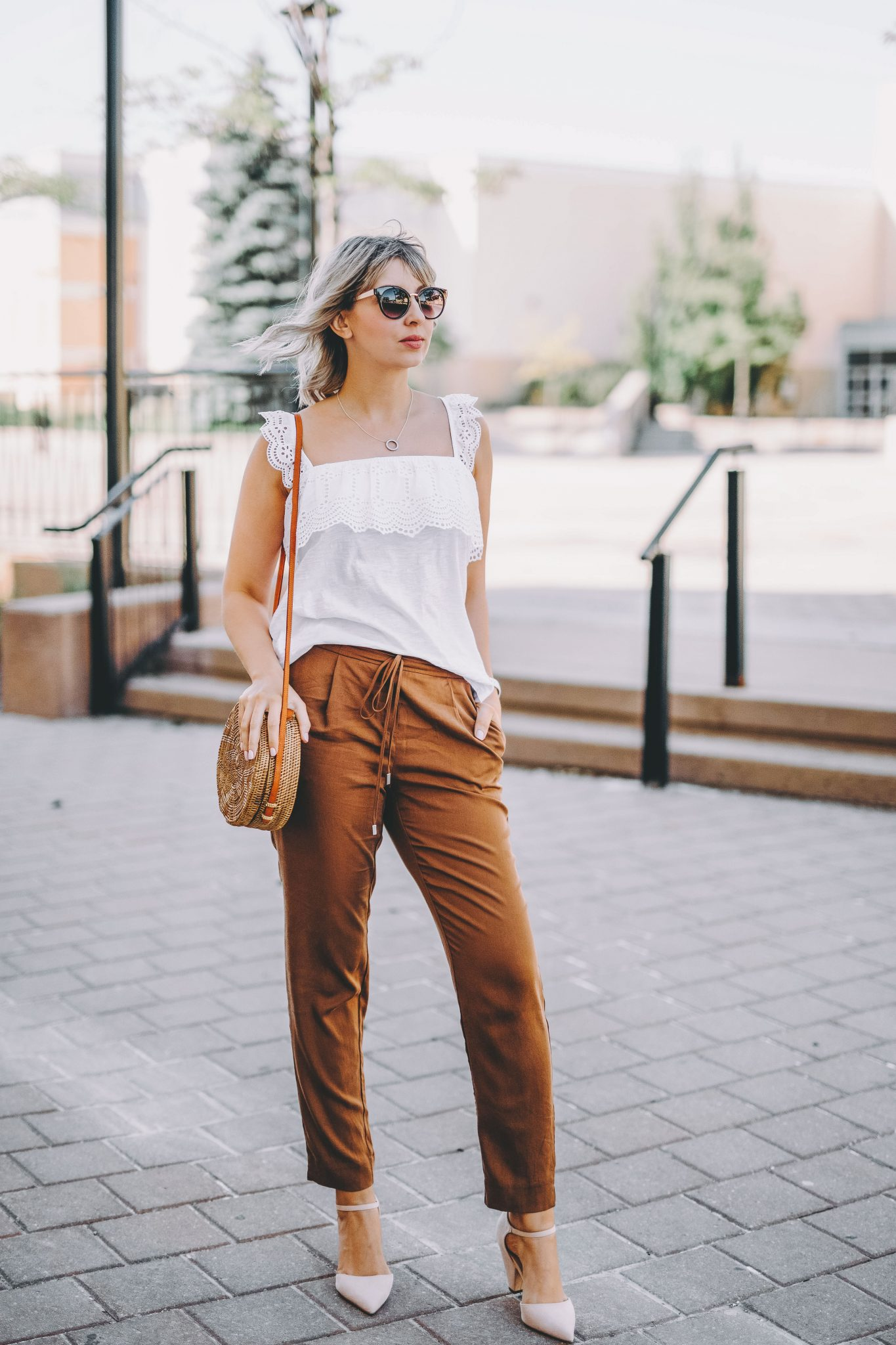 Rusty Orange Pants two ways 5