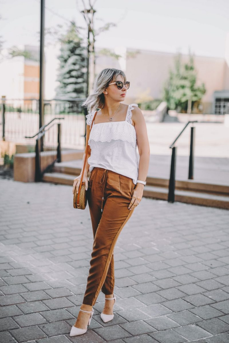 Rusty Orange Pants two ways 6