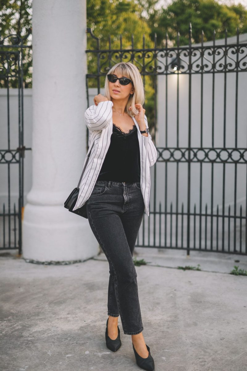 stripe blazer transitionnal style 2