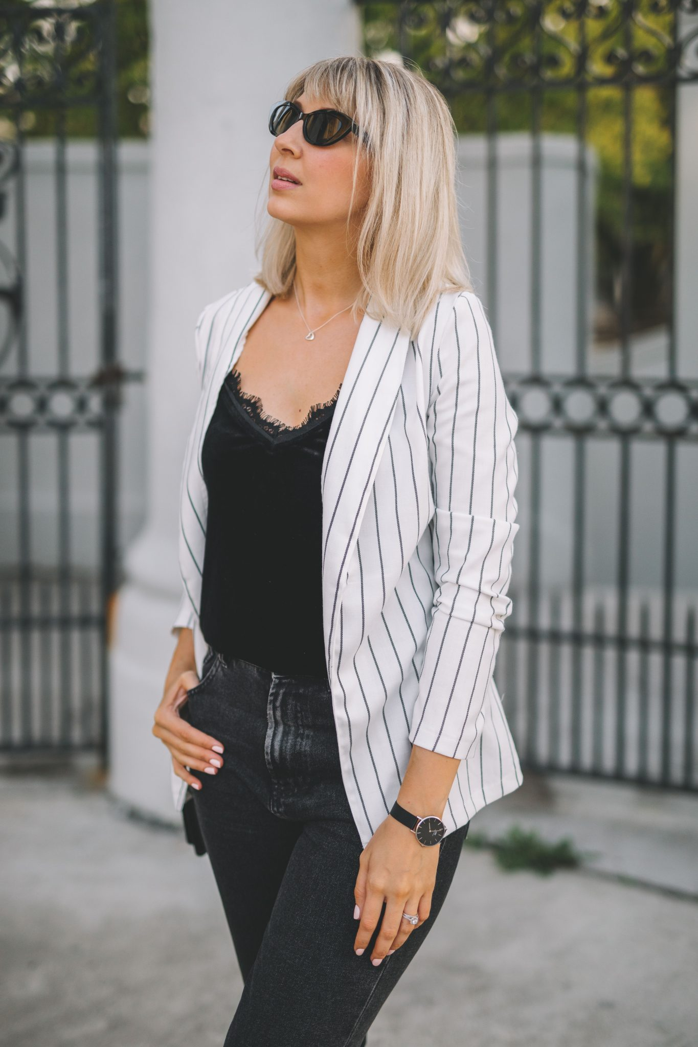 stripe blazer transitionnal style 3