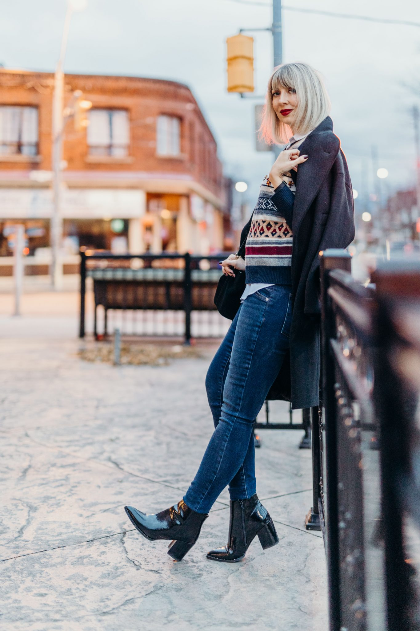 Christmas embellished sweater city street style (11 of 11)